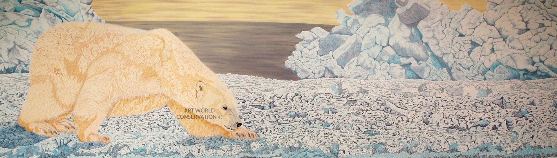 Polar Bear Wildlife Art