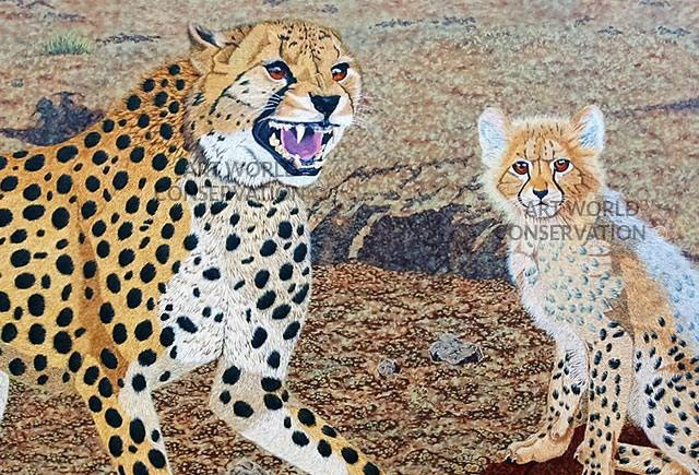 Cheetah & Cub painting