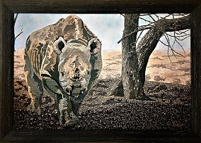 Exclusive Print Black Rhino on canvas 61cm x 87cm.jpg