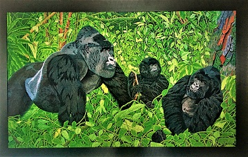 Exclusive Print Gorillas In the Virungas on canvas 93cm x 146 cm (2).jpg