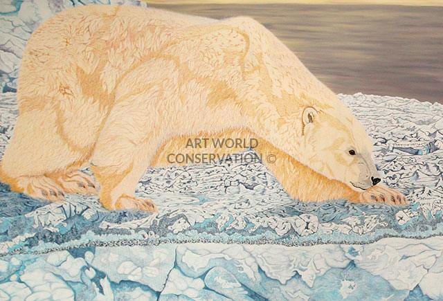 Polar Bear & Harp Seal painting