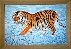 Exclusive Print  Siberian Tiger Cub on canvas 61cm x 87 cm.jpg